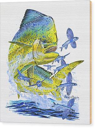 Mahi Mahi Wood Print by Carey Chen