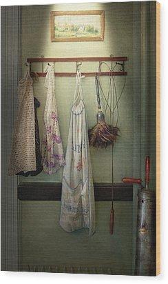 Maid - Always So Much Housework Wood Print by Mike Savad