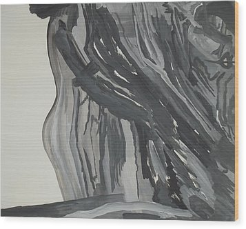 Maid In Maelstrom Wood Print