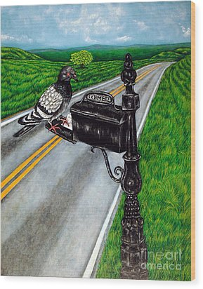 Mail Delivery Wood Print by Jay  Schmetz
