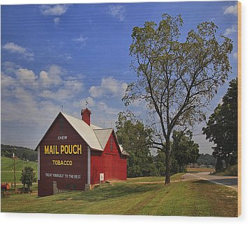 Mail Pouch Barn Wood Print by Wendell Thompson