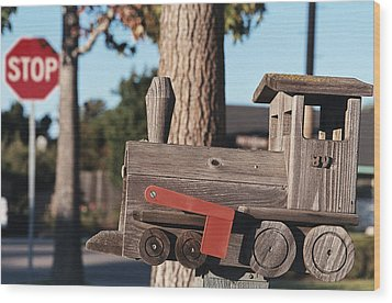 Mail Stop Wood Print by Caitlyn  Grasso
