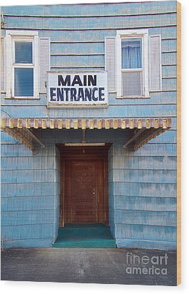 Main Entrance Wood Print by MaryJane Armstrong