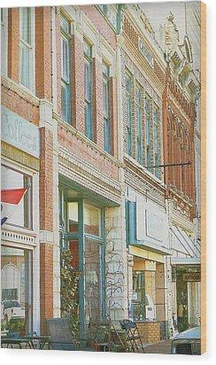 Main Street America Street Scene Photograph Wood Print by Ann Powell