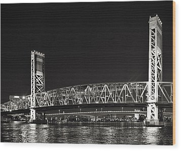 Main Street Bridge Jacksonville Florida Wood Print