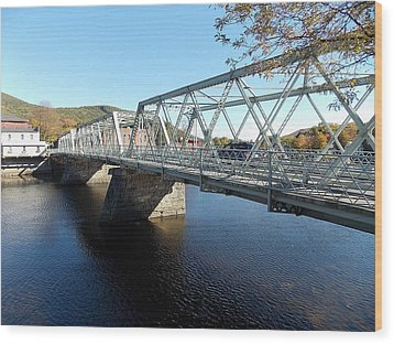 Main Street Bridge Shelbourne Falls  Wood Print