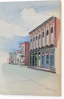 Wood Print featuring the painting Main Street In Gosport by Katherine Miller