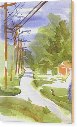 Main Street On A Cloudy Summers Day Wood Print by Kip DeVore