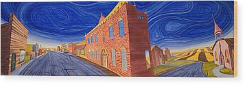 Main Street Panoramic Wood Print