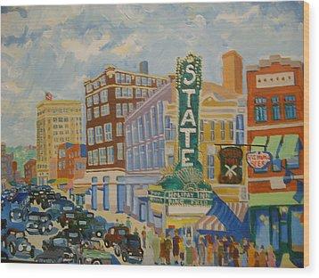 Main Street Wood Print by Rodger Ellingson