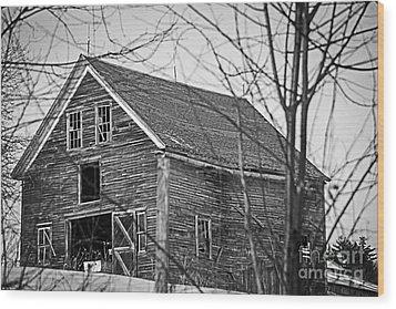 Maine Barn Wood Print