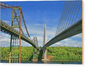 Maine Bridges Wood Print