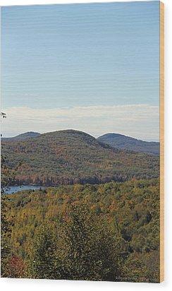 Maine Fall Wood Print by Becca Brann