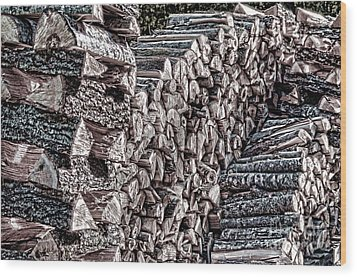Maine Firewood Wood Print