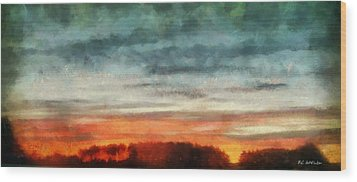 Maine Sunset Wood Print by RC deWinter