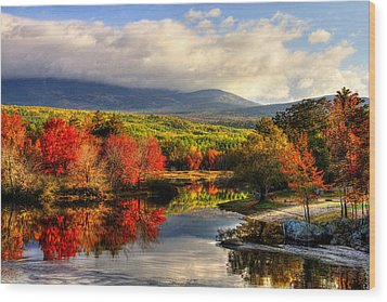 Maine's Beauty Wood Print by Sharon Batdorf