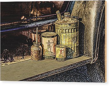 Wood Print featuring the photograph Maintenance by Jay Stockhaus