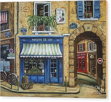 Maison De Vin Wood Print by Marilyn Dunlap
