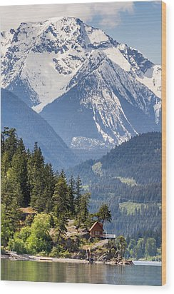 Majestic Anderson Lake Landscape Wood Print by Pierre Leclerc Photography
