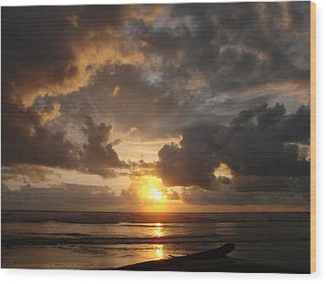 Wood Print featuring the photograph Majestic Sunset by Athena Mckinzie