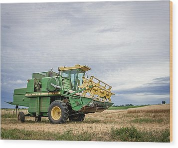Wood Print featuring the photograph Majestic Combine by Dawn Romine