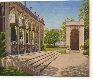 Wood Print featuring the painting Majestic Entrance by Joe Bergholm