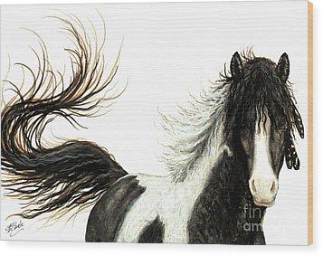 Majestic Horse Series #76 Wood Print by AmyLyn Bihrle