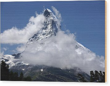 Wood Print featuring the photograph Majestic Mountain  by Annie Snel