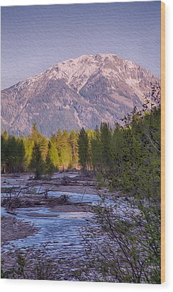 Majestic Mountain Morning Wood Print by Omaste Witkowski