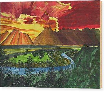 Majestic Mountains Wood Print