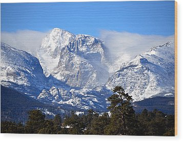 Majestic Mountains Wood Print by Tranquil Light  Photography