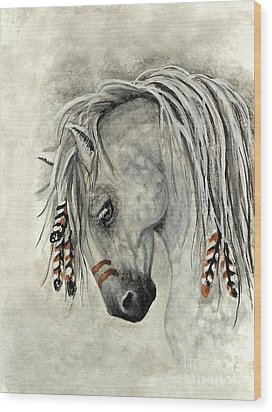 Majestic Mustang 30 Wood Print by AmyLyn Bihrle