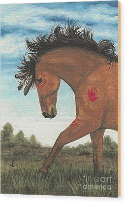 Majestic Mustang 36 Wood Print by AmyLyn Bihrle
