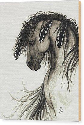 Majestic Mustang Horse Series #51 Wood Print by AmyLyn Bihrle