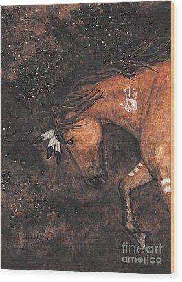 Majestic Mustang Series 40 Wood Print by AmyLyn Bihrle