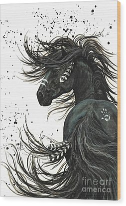 Majestic Spirit Horse 65 Wood Print by AmyLyn Bihrle