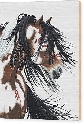 Majestic Pinto Horse Wood Print