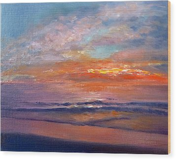 Wood Print featuring the painting Majestic Sunrise by Lori Ippolito