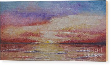 Majestic Sunset  Wood Print by Tatjana Popovska