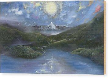 Majestik Twilight Wood Print by Jerod  Kytah