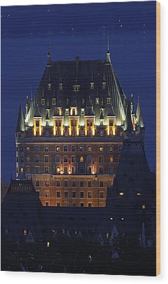 Majesty Of Chateau Frontenac In Quebec City Wood Print by Juergen Roth