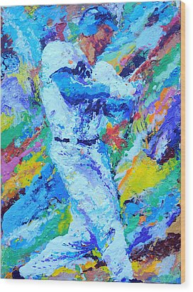 Major League Player Wood Print by Charles Ambrosio