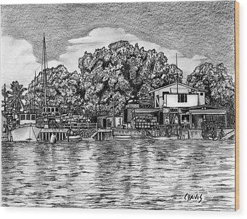 Majuro Harbor Wood Print by Lew Davis