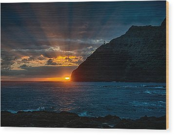Makapuu Sunrise Wood Print by Dan McManus