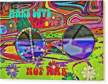 Make Love Not War Wood Print by Eleni Mac Synodinos