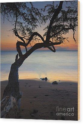 Makena Breeze Wood Print by Mike  Dawson
