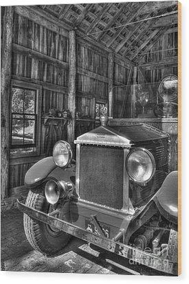 Maker's Mark Firehouse 2 Bw Wood Print by Mel Steinhauer