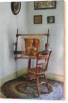 Making A Tapestry Wood Print by Susan Savad