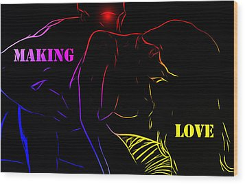 Making Love Wood Print by Steve K