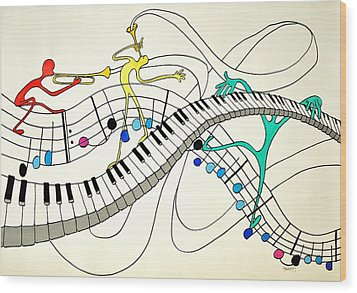 Making Music Wood Print by Glenn Calloway